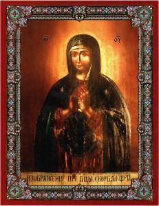 """Прилуцька ікона Пресвятої Богородиці іменуєма, """"Скорботна"""""""
