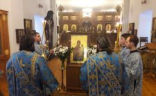 Архієпископ Климент очолив читання акафісту служби Похвали Пресвятої Богородиці