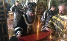 У середу п'ятої неділі Великого Посту Архієпископ Климент очолив служіння літургії Передосвячених Дарів