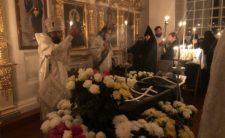 Митрополит Климент у Золотоніському Красногірському монастирі звершив заупокійне богослужіння за новоспочилою ігуменією Агнією