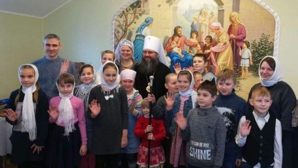 Зустріч митрополита Климента з вихованцями Недільної школи в Бобровиці