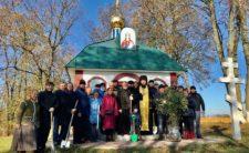 """Духовенство і віряни Ніжинської єпархії взяли участь у всеукраїнській акції """"Посади дерево"""" (відео)"""