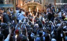 Високопреосвященніший Митрополит Климент коментував трансляцію богослужіння з храму Воскресіння Христового в Єрусалимі (відео)
